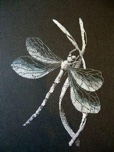 American student's work Blackwork, Royal School of Needlework