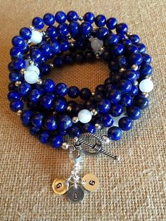 """""""Chris"""" Lapis, Moonstone & Sterling Necklace and/or Bracelet"""
