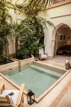 Beautiful Courtyard in Marrakech by Christian Préaud