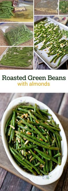 Green beans tossed with lemon, olive oil and spices roasted with ...