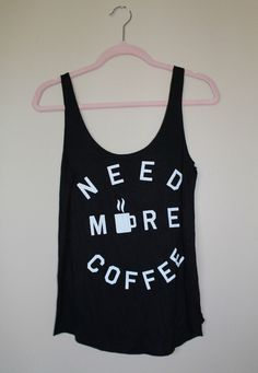 COFFEE TOP CUTE FUNNY GRAPHIC TEE TANK BLACK I LOVE COFFEE OOTD LOTD FASHION BOUTIQUE STYLE OUTFIT IDEA INSPIRATION Magnolia Mill Coffee Please Top