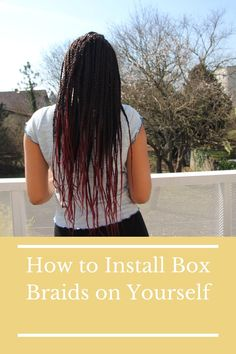 Did you ever wanted to have Box Braids? Did you ever wanted to install them yourself but did not know how? Now worries! Click the link and it will bring you to the easiest to follow tutorial ever! I will show you how to install Box Braids on yourself and I promise you the instalment process will be not only easy but also fast!    #Boxbraids #Howtoinstallboxbraids #Hairstyles #Curlyhairhairstyles #Protectivestyles #Boxbraidstutorial