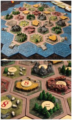 Hand Designed, Crafted, and Painted 3D Settlers of Catan Tiles.