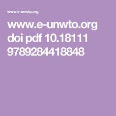 www.e-unwto.org doi pdf 10.18111 9789284418848 Sustainable Development, Tourism, Sustainability