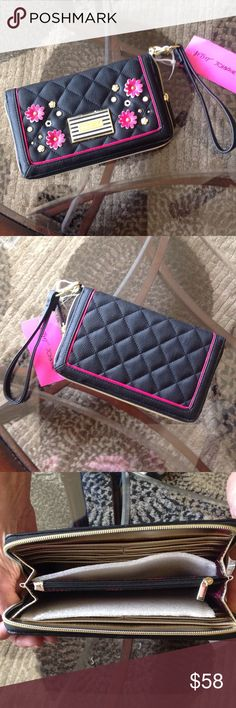 "NEW! BETSEY JOHNSON OVERSIZED WALLET BRAND NEW! BETSEY JOHNSON OVERSIZED WALLET! NEVER USED! EXCELLENT NEW CONDITION! Approximate Measurements-9"" X 5 1/2"".....BEAUTIFUL WALLET!! Betsey Johnson Bags Wallets"