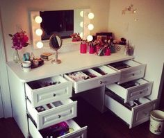 best 14 Outstanding Makeup Vanity Drawers Pic Idea