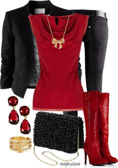I've never really been a fan of 'red' but I'm sure I'd rock this #style. #fashion