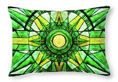 Green Sun Throw Pillow for Sale by Elena Vedernikova Art Prints For Home, Sand Sculptures, Sand Art, Pillow Sale, Poplin Fabric, Unique Art, Wave, Tapestry, Cleaning