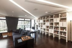 Architecture:Fanyc Stylish Sofa And Coffee Table With Office Tabel And White Cool Bookcase Design With Nice Lighting Fixtures Some Taiwan Ho...