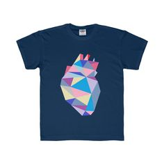 Youth Abstract Heart Regular Fit Tee