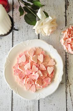dreamy heart-shaped candies that melt in your mouth. They make a perfect Valentine's gift that made with love! Healthy Dessert Recipes, Sweets Recipes, Fun Desserts, Real Food Recipes, Great Recipes, Delicious Desserts, Favorite Recipes, Holiday Treats, Holiday Recipes