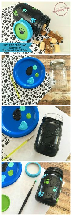 To entice your favorite little pets to behave, whether they are with you or not, try your hand at this adorable little 'The Secret Life of Pets DIY Craft Idea: Dog Treat Jar'.
