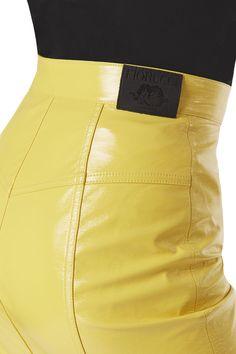 Margot  Vinyl Skinny Skirt Real Leather Skirt, Leather Skirts, Latest Jeans, Tapered Jeans, Hot Pants, Yellow Black, High Waisted Skirt, Women Wear, Mini Skirts
