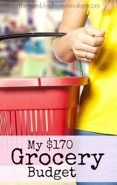 This family of four spent just $170 for a month of groceries! Here's how they made it work, along with a sample menu plan! Cutting back on grocery spending helped them pay off student loans fast! If you're working toward a big financial goal like becoming debt free, you'll want to be sure to check this out!