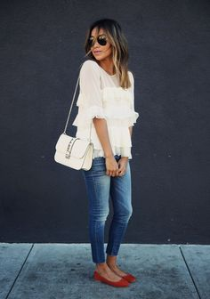 Fashion Inspiration | Jeans & Ruffles