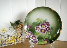 Vintage, French, Luneville, French Vintage, Antique French, France, Made in France, Cake Plate, Vintage Cake Plate, Gift for Her by AbateVintage on Etsy https://www.etsy.com/listing/462503624/vintage-french-luneville-french-vintage