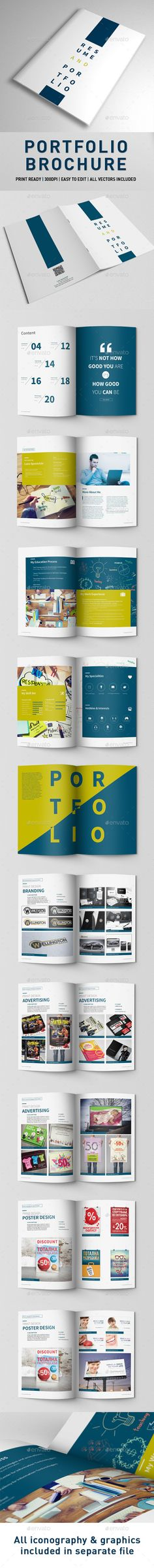 Portfolio Brochure Template #brochuretemplate Download: http://graphicriver.net/item/portfolio-brochure/9935095?ref=ksioks