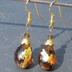 Belles boucles d'oreille perles murano faites main bcl.2393