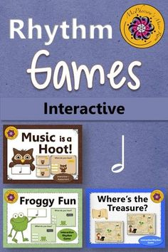 LOVE this bundle of interactive music games! Your elementary music students will BEG to do music centers again while reviewing half notes. Fun rhythm games anytime! #musicgames #elementarymusic