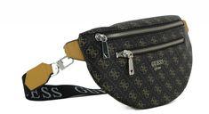 Hüfttasche Guess Vikky Mini Brown Logodruck Gürtel Nylons, Marken Logo, Crossover, Louis Vuitton Monogram, Trends, Logos, Mini, Pattern, Fanny Pack