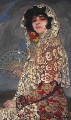 Ignacio Zuloaga y Zabaleta (Spanish, 1870-1945) Maja