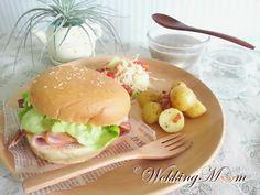 Ham and Cheese Burger