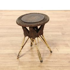 Attractive This Stool Is Featured In A Black Woven Wicker. This Cottage Chic Style  Footstool Has Idea