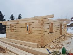 Roubenka Klasik | Roubenky Zeman Construction, Log Homes, Building, Wood, Frame, Nature, House Ideas, Mountain, Timber House