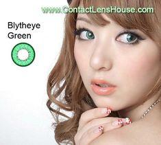 Blytheye Green color circle lens. Korean cosmetic lenses.  We Ship Worldwide | Shop @ ContactLensHouse.com