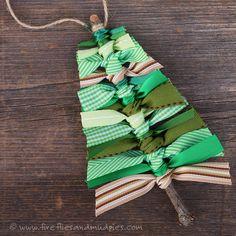 Scrap Ribbon Tree Ornaments | Fireflies and Mud Pies