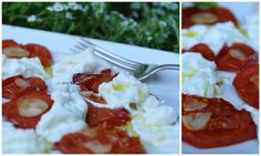 Burrata with lemon olive oil and roasted tomatoes