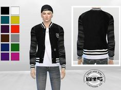McLayneSims' Leather Sleeves Baseball Jacket
