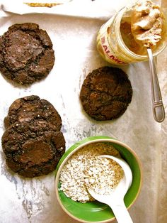 Almond Butter Cocoa Cookies