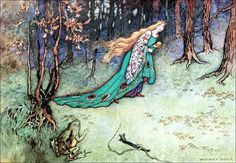 Frog Prince - Art by Warwick Goble (c 1913) from THE FAIRY BOOK: The Best Popular Fairy Stories.