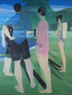 Marc Desgrandchamps O.T, 2013  Huile sur toile 200 x 150 cm Oil on canvas 7847⁄64 x 591⁄16in