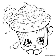 coloring pages cups Free Printable Cupcake Coloring Pages For