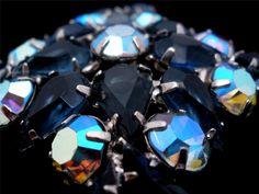 D E for Juliana Maltese Cross Sapphire Blue AB Rhinestone Brooch Pin Vintage | eBay
