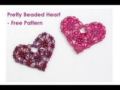 Free Bead Patterns and Ideas : Pretty Beaded Heart - Free Pattern
