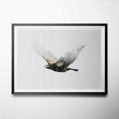 Double Exposure Animal-Eagle
