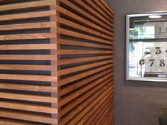 48 New Ideas Timber Screen Horizontal Privacy Walls Timber Feature Wall, Timber Wall Panels, Wood Slat Wall, Timber Battens, Timber Screens, Timber Cladding, Wood Panel Walls, Wall Cladding, Wood Slats