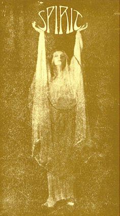 """""""Spirit"""" Spiritualism Vintage Photograph; I just love this, & the Art Nouveau Font!"""