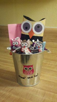 """""""Owl"""" miss you- goodbye gift for staff"""