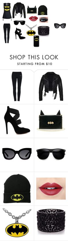 """batman outfit"" by snowflake911 on Polyvore featuring Poizen Industries, Karen Walker, Fiebiger and Oasis"
