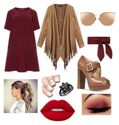 """First day"" by ashley1747 ❤ liked on Polyvore featuring Manon Baptiste, Michael Kors, Linda Farrow, Chloé and Lime Crime"