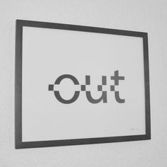 Clever Typographic Poster: Cut it Out - My Modern Metropolis