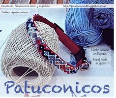 Collar de perro Patuconicos hecho a mano con nudos de macramé con cierre de quita y pon. Medida 32 cm.