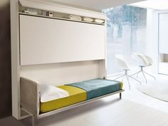 Design Idea for RV Bunk Beds from Resource Furniture Rv Bunk Beds, Murphy Bunk Beds, Bunk Beds For Girls Room, Bunk Beds Built In, Modern Bunk Beds, Cool Bunk Beds, Bunk Beds With Stairs, Murphy Bed Plans, Kid Beds