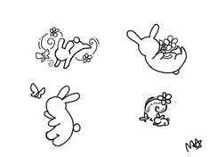 Bunny Tattoos by LittleGreenHat.deviantart.com on @deviantART....I must get one of these and soon!!!