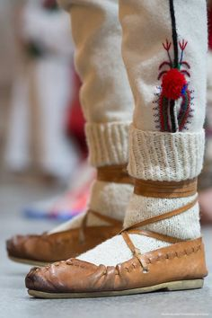 Region of Beskid Żywiecki, southern Poland. Folk Costume, Costumes, Polish Folk Art, Image Photography, Moccasins, Poland, The Past, Southern, Folk Clothing