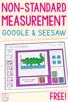 This free non-standard measurement activity is an interactive math activity for students to explore measurement on Google Slides or Seesaw. Perfect for kindergarten and first grade!